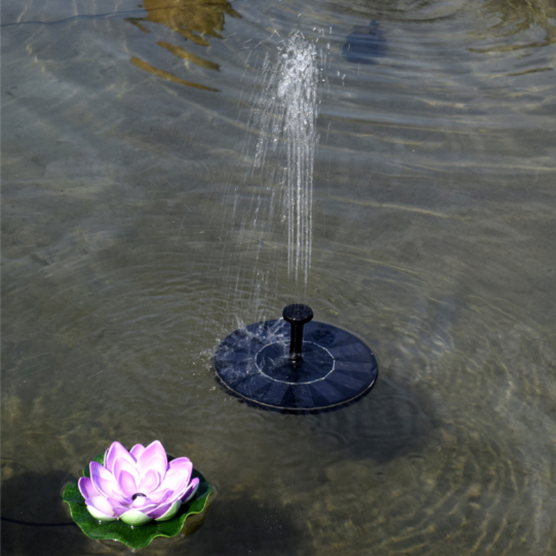 Solar Panel Powered Submersible Floating Fountain Garden