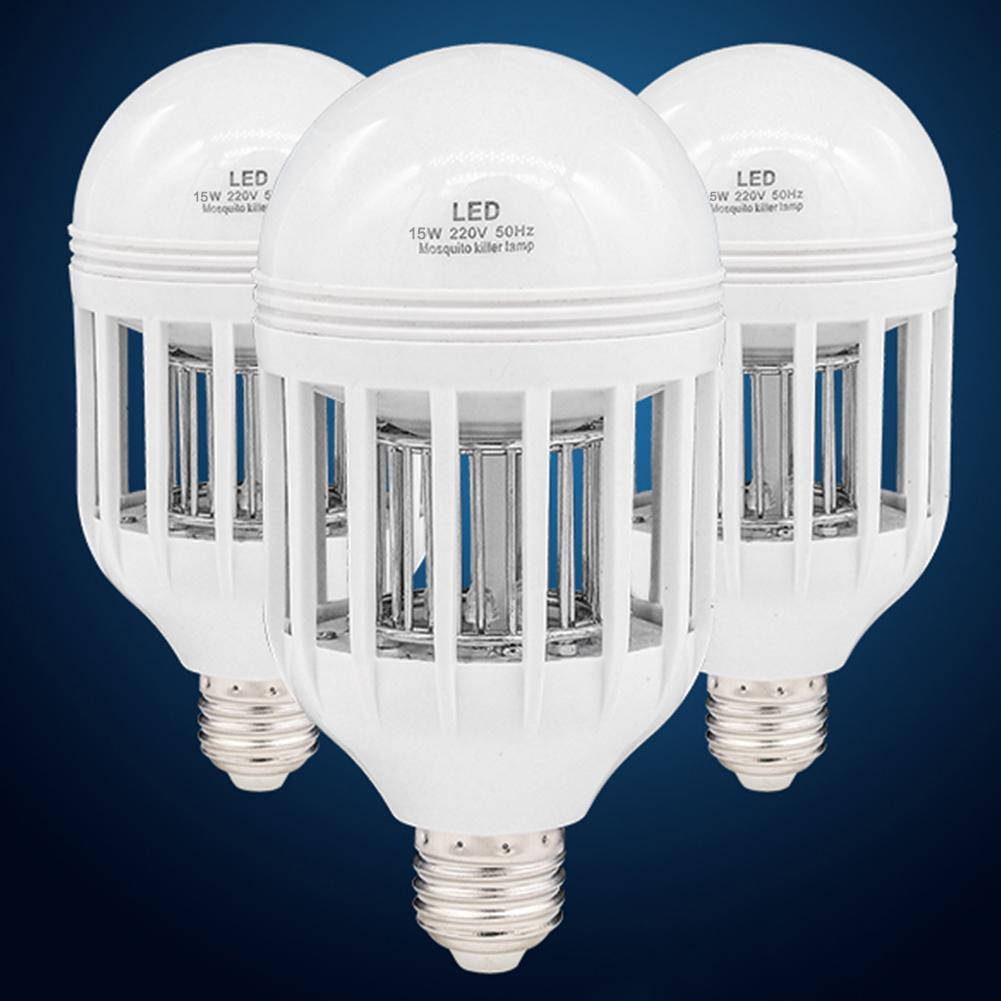 bug zapper led bulb 85v 265v e27 flying insects mosquito killer light. Black Bedroom Furniture Sets. Home Design Ideas