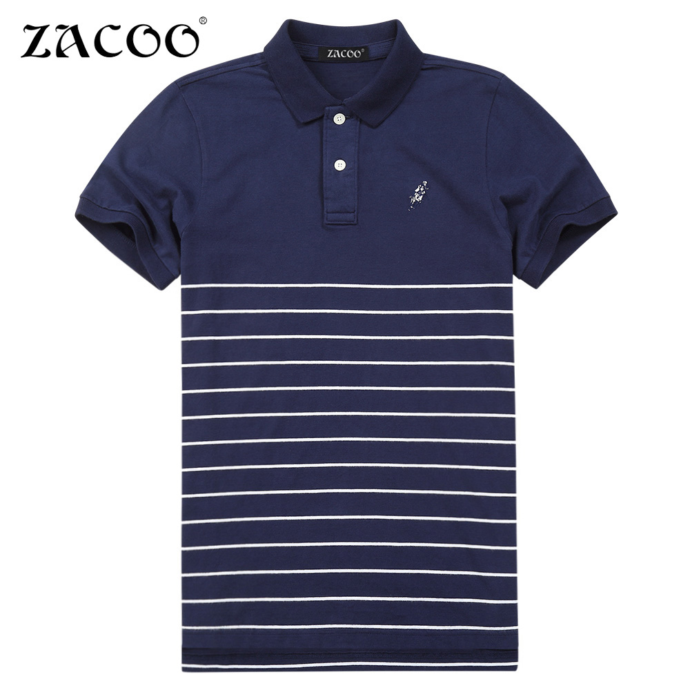 Zacoo men 39 s casual striped shirts slim fit short sleeve for Mens short sleeve patterned shirts