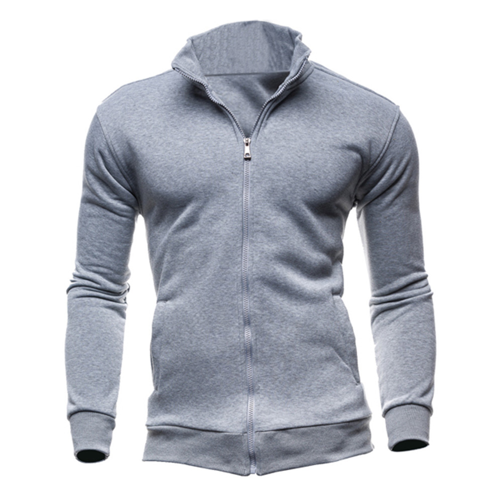 Men/'s Retro Style Leisure Sports Cardigan Soft Cotton Full Zip Casual Jacket New