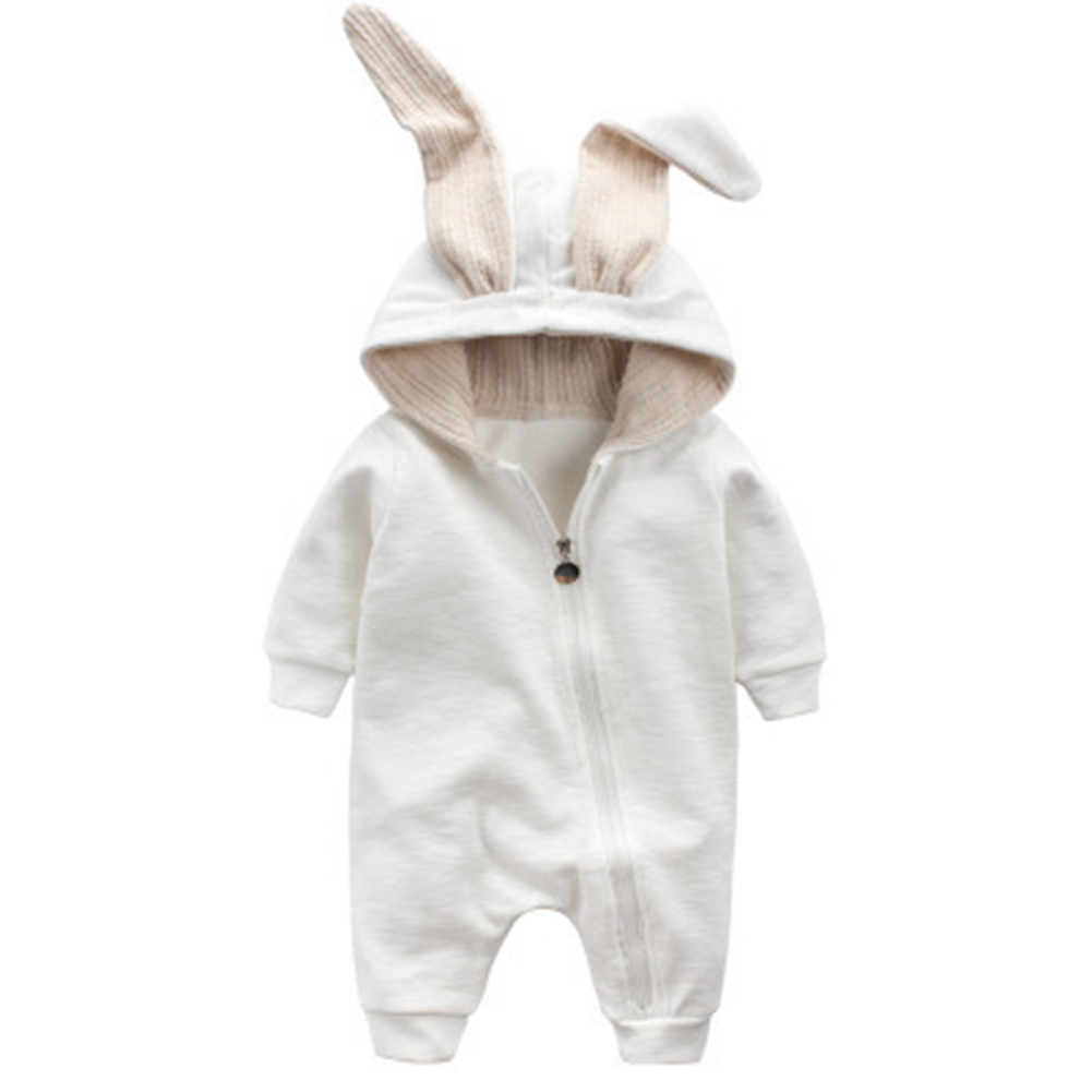 Baby Tier Overall Jumpsuit mit Hasenohren Neugeborenes Kapuze Strampler Outfit
