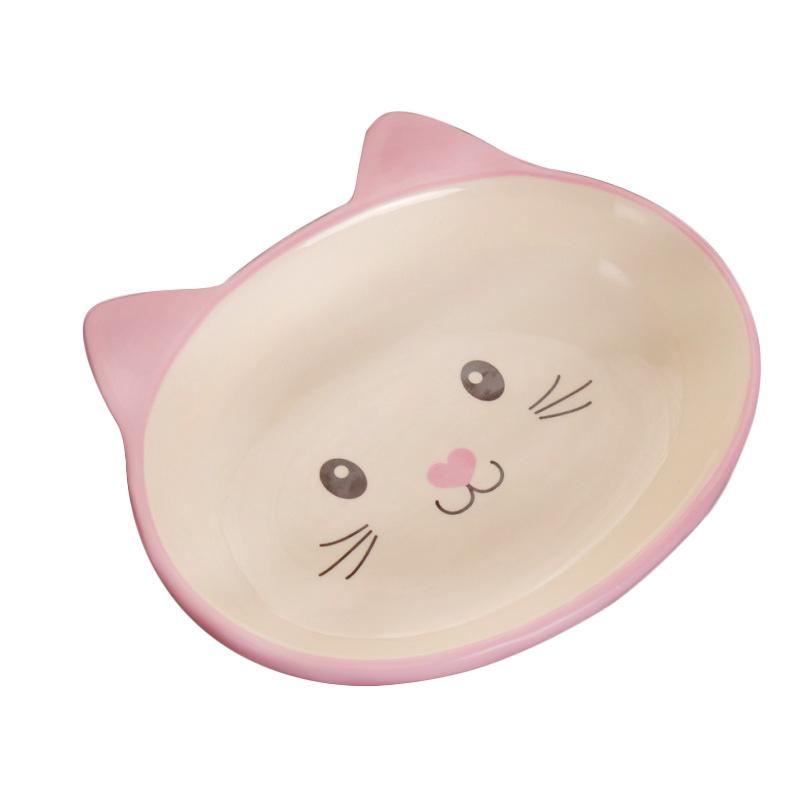 New Non Skid Cat Ear Shaped Cat Dog Bowls Ceramic Pets