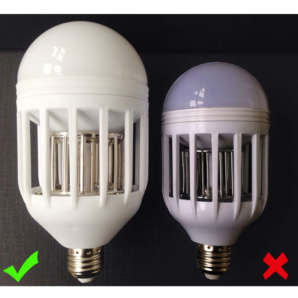 2 In 1 Bug Zapper Led Bulb 85v 265v E27 Flying Insects Mosquito Killer Light Lam Ebay