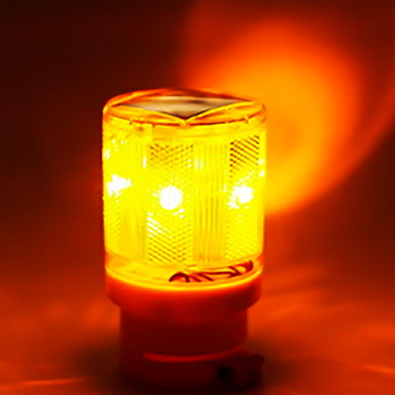 Solar Power LED Traffic Strobe Warning Light Flicker Road Barricade Sign Lamp US