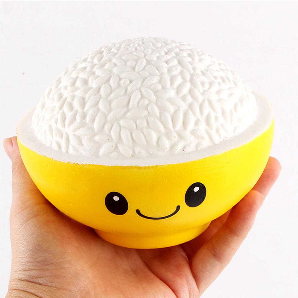 Squishy En Espanol : Dibujos animados encantadora Squishy arroz en el tazon de fuente lento aumento de ansiedad ...