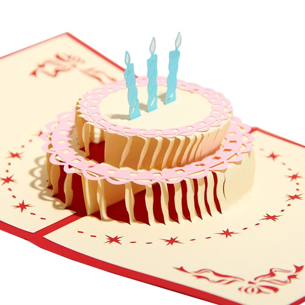 Details About Happy Birthday Cake Greeting Baby Gift Party New Hot Cards 3d Pop Up Card