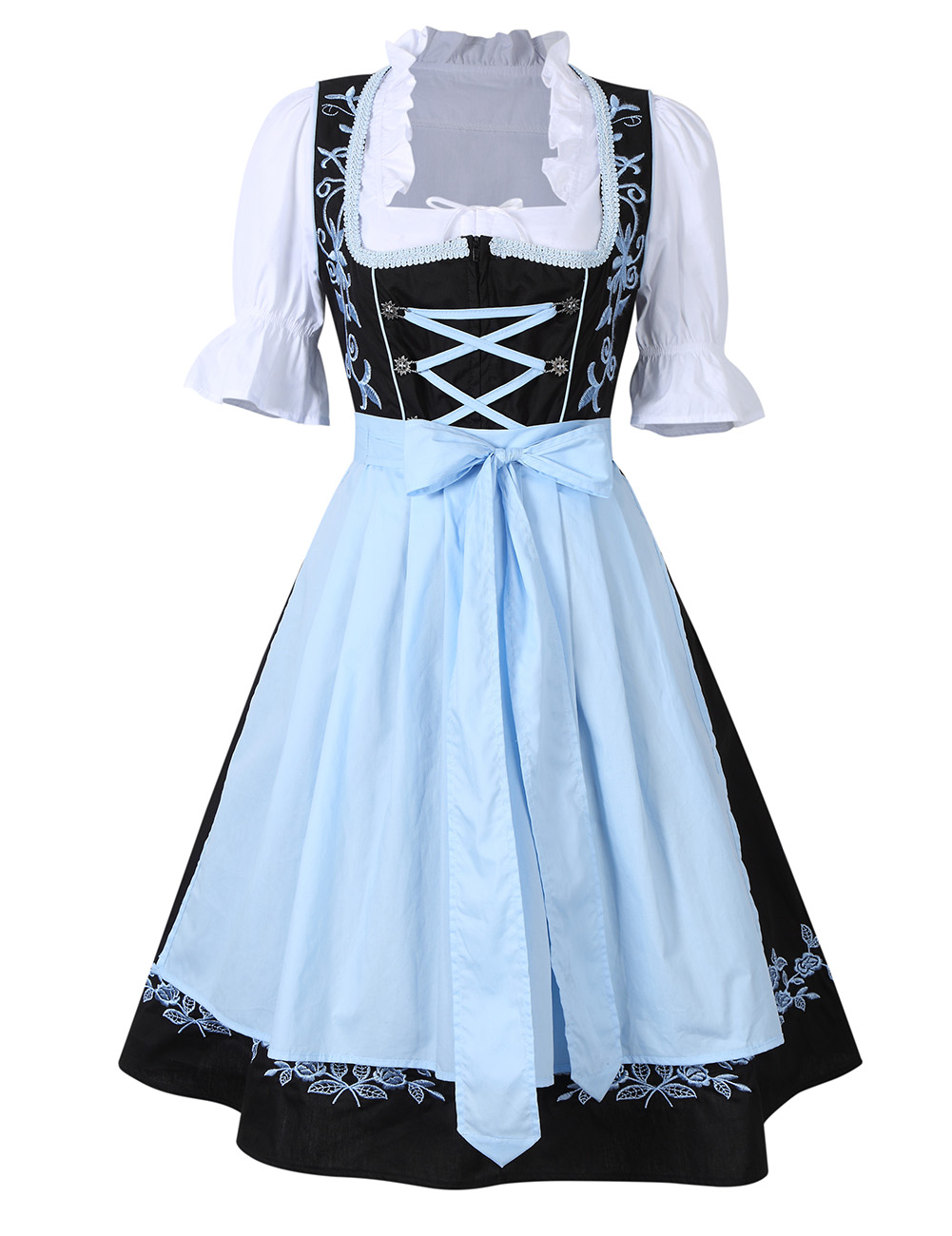 3Pcs Womens Traditional Bavarian German Classic Dirndl ...