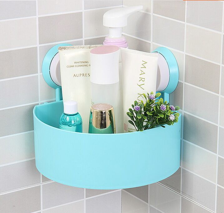 Wall Suction Cup Bathroom Shelf Bath Shower Storage Rack Home ...
