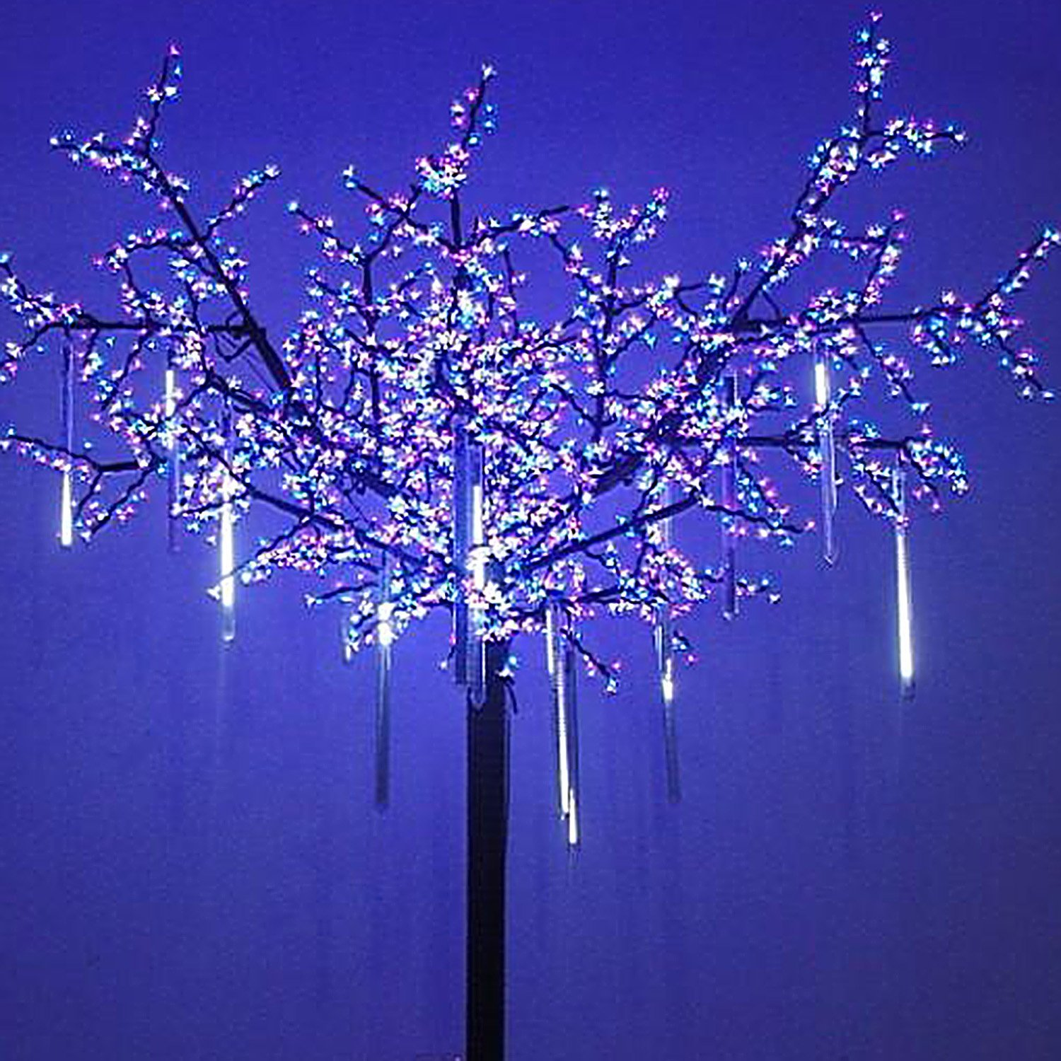 Details About 8 Led Fall String Fairy Light Rain Drop Icicle Snow Xmas Tree Cascading Decor Us