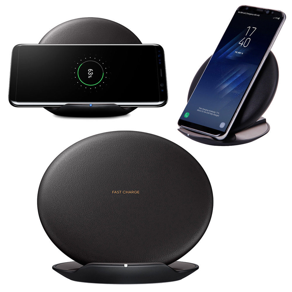 qi samsung galaxy s8 s8 plus fast wireless charger pad ep. Black Bedroom Furniture Sets. Home Design Ideas