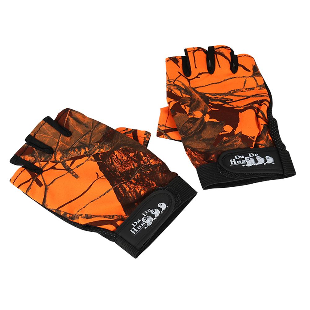Fishing Gloves Fingerless Waterproof Anti Slip Sun