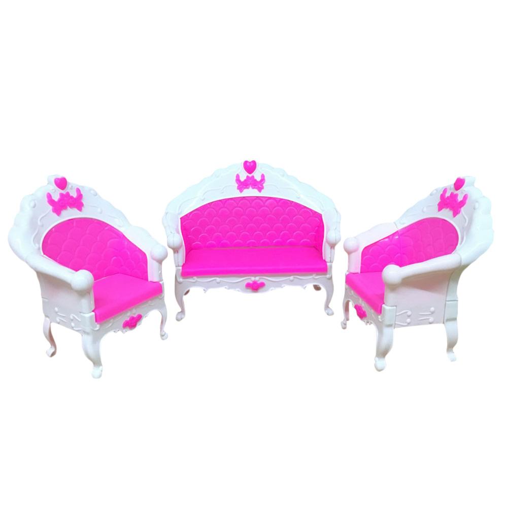 6Pcs/Set Dollhouse Furniture Living Room Parlour Sofa Chair for ...