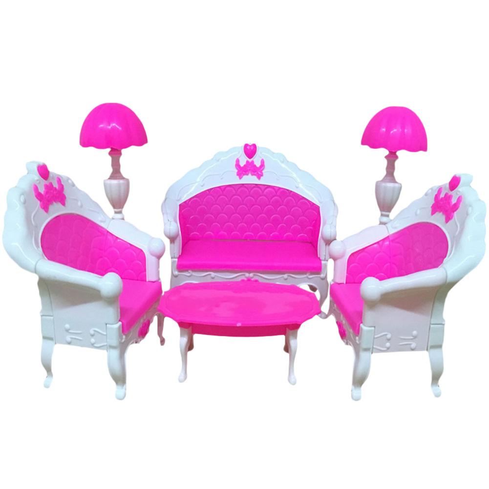 Mini puppenhaus m bel wohnzimmer set tisch und stuhl f r barbie puppen ebay - Barbie wohnzimmer ...