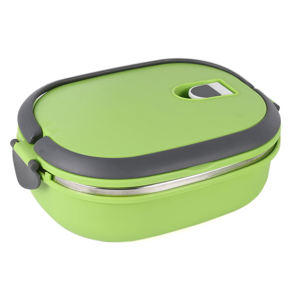 portable stainless steel insulated thermal lunch box case food container bento ebay. Black Bedroom Furniture Sets. Home Design Ideas