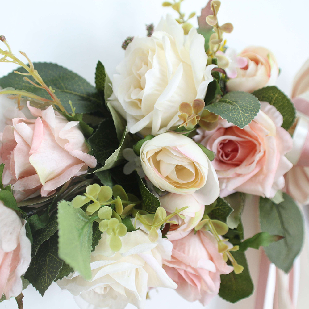 Artificial Pink Peonies Flower Garland Home Garden Lintel Wedding
