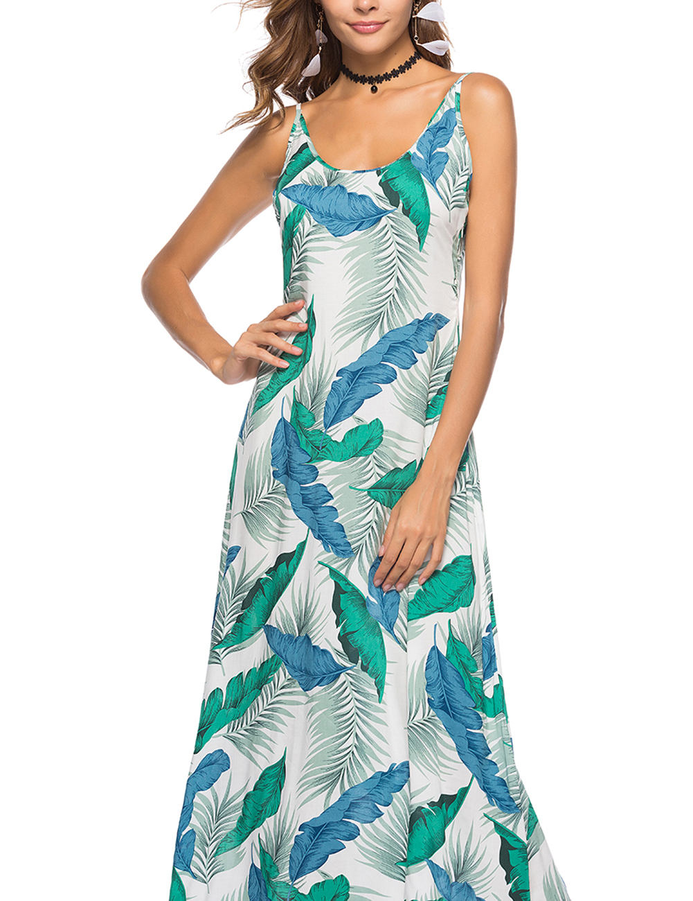 Bohemia Women Slip Dress Floral Print Summer Beach Evening Party ...