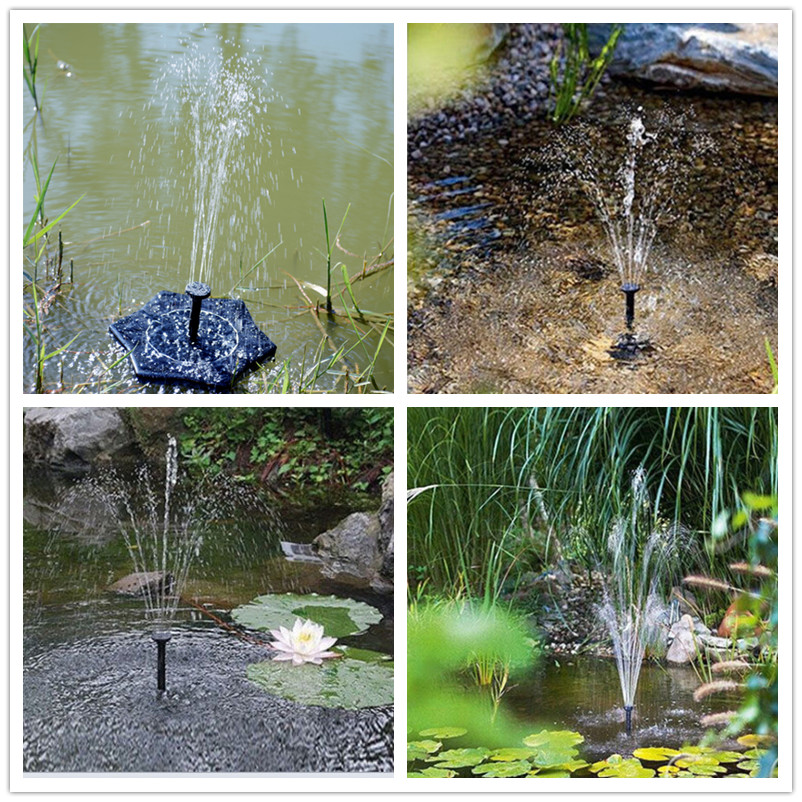 2018 Floating Solar Powered Fountain Pond Water Pump For