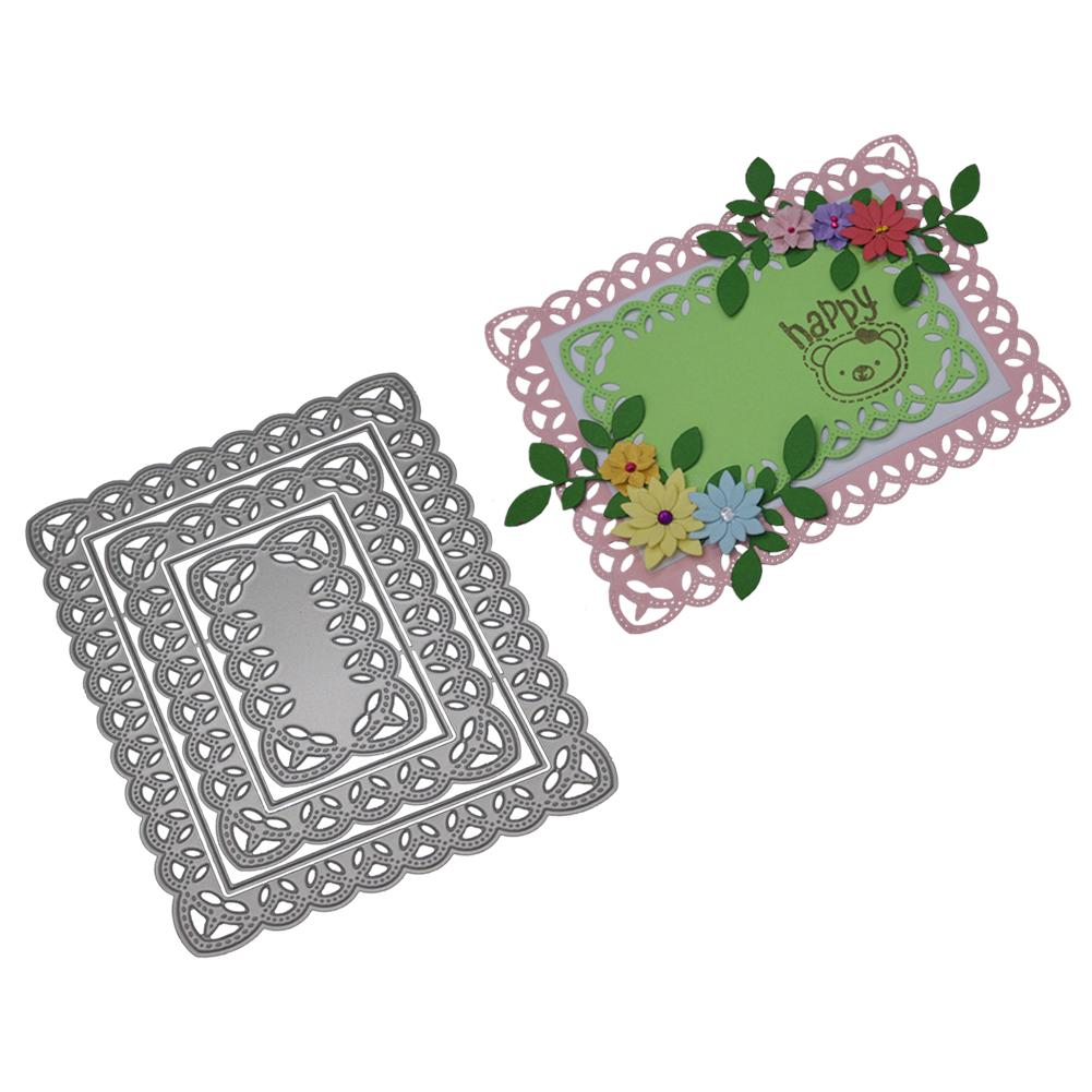 Mehrschichtiger hohler quadratischer Blumen Rahmen Scrapbooking ...