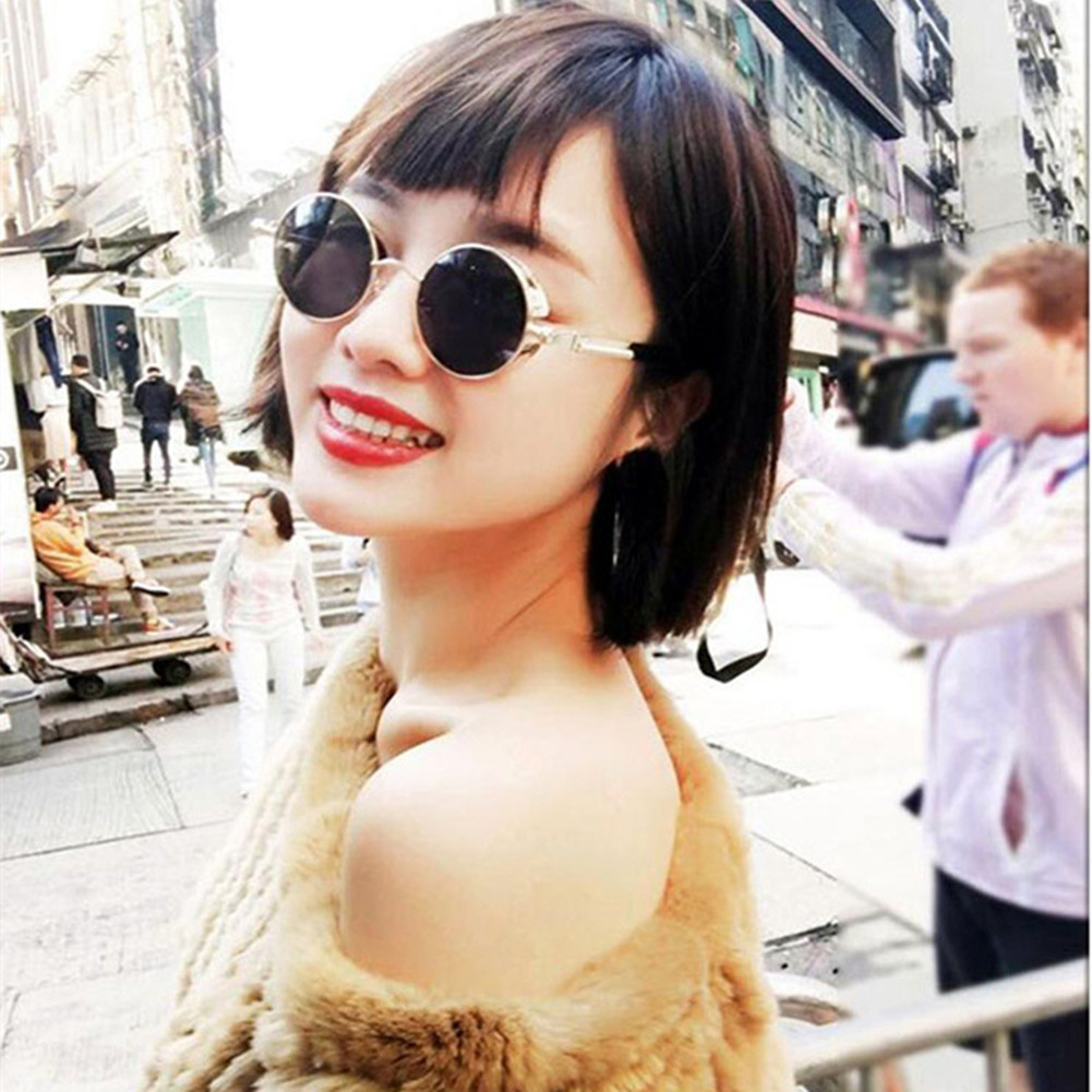 ae7e8bae53 Stylish Metal Round Frame Sunglasses with Spring Legs for Street Snap  Birthday