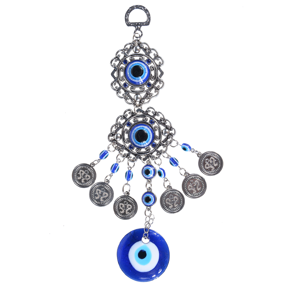 Blue-Evil-Eye-Amulet-Turkish-Wall-Hanging-Home-Decor-Blessing-Gift-Lucky-Pendant thumbnail 4
