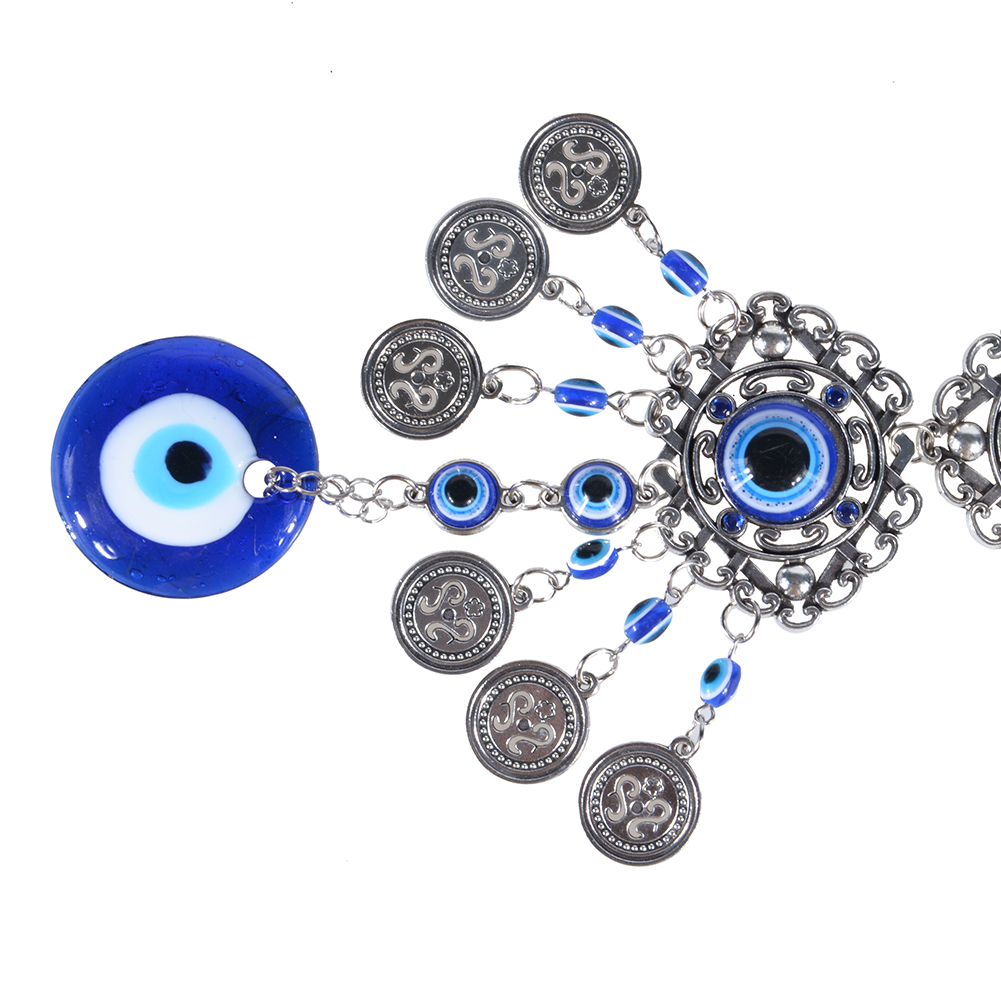 Blue-Evil-Eye-Amulet-Turkish-Wall-Hanging-Home-Decor-Blessing-Gift-Lucky-Pendant thumbnail 5