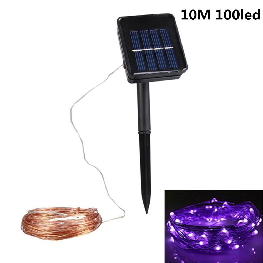 Led Solar String Lights Waterproof 10m Copper Wire Fairy Lamps Wiring A Lamp Uk