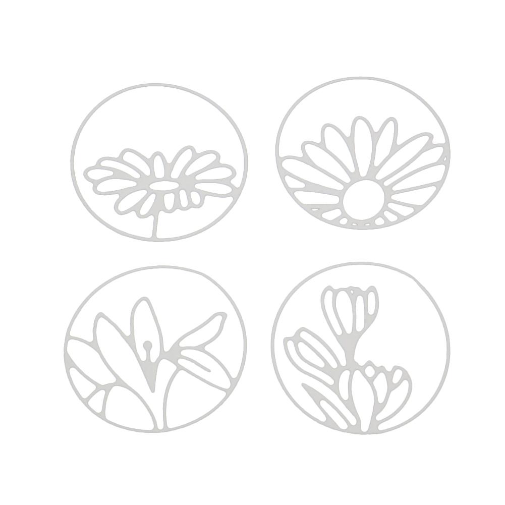 1set Metal Cutting Dies Stencil Craft Embossing Scrapbooking flower garland RS