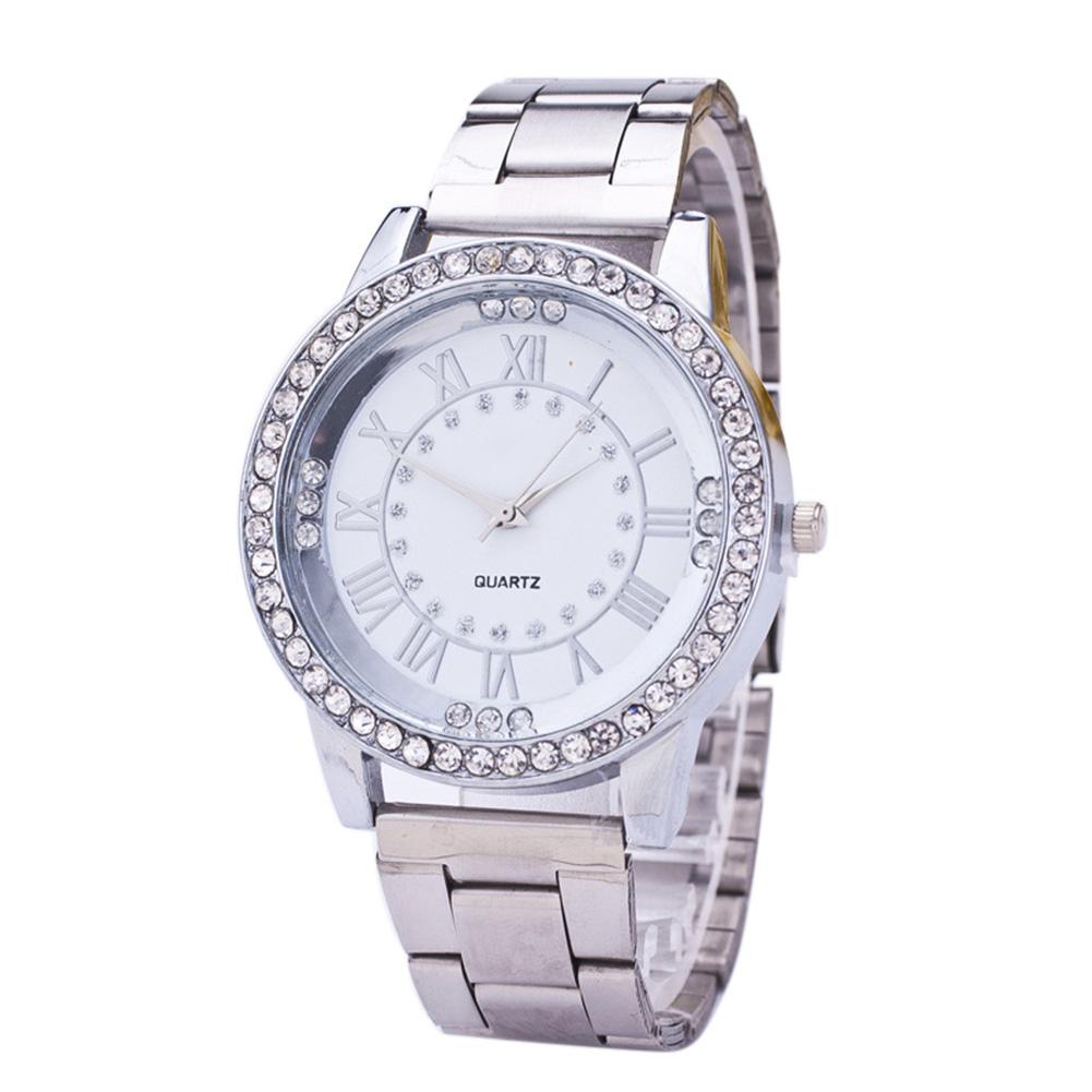 luxus damen uhr quarzuhr armbanduhr watch uhren edelstahl. Black Bedroom Furniture Sets. Home Design Ideas