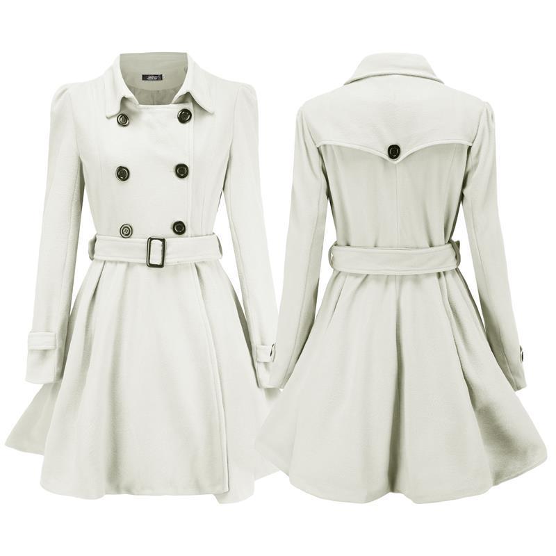 8ec1f580c8 Women Winter Long Trench Coat Double Breasted Parka Jacket Warm Outwear  Overcoat
