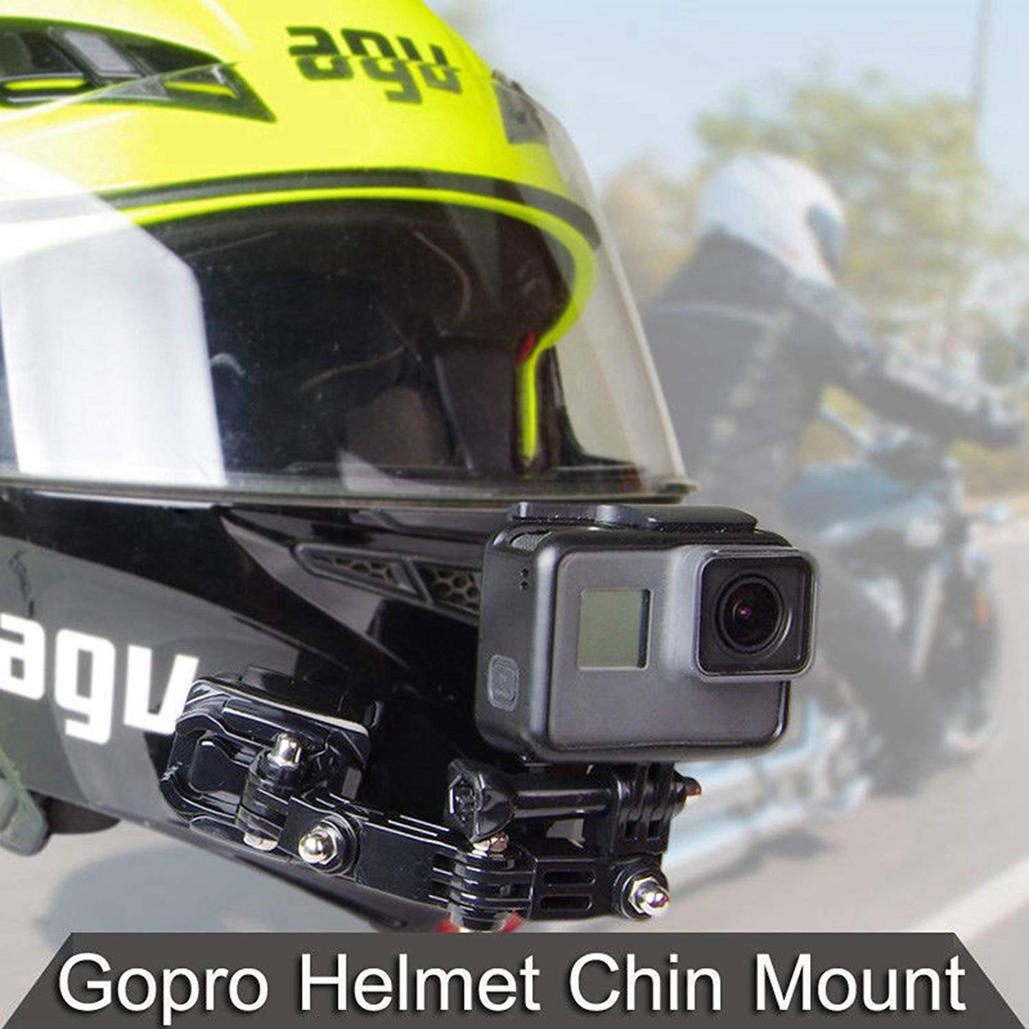 Details About Motorcycle Helmet Chin Bracket Turntable Button Mount Cam For Gopro Hero6 5 4