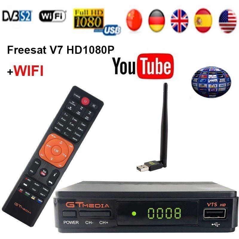 Details about Freesat V7S HD FTA Digital Satellite TV Receiver DVB-S2/S  Support BissKey 1080P