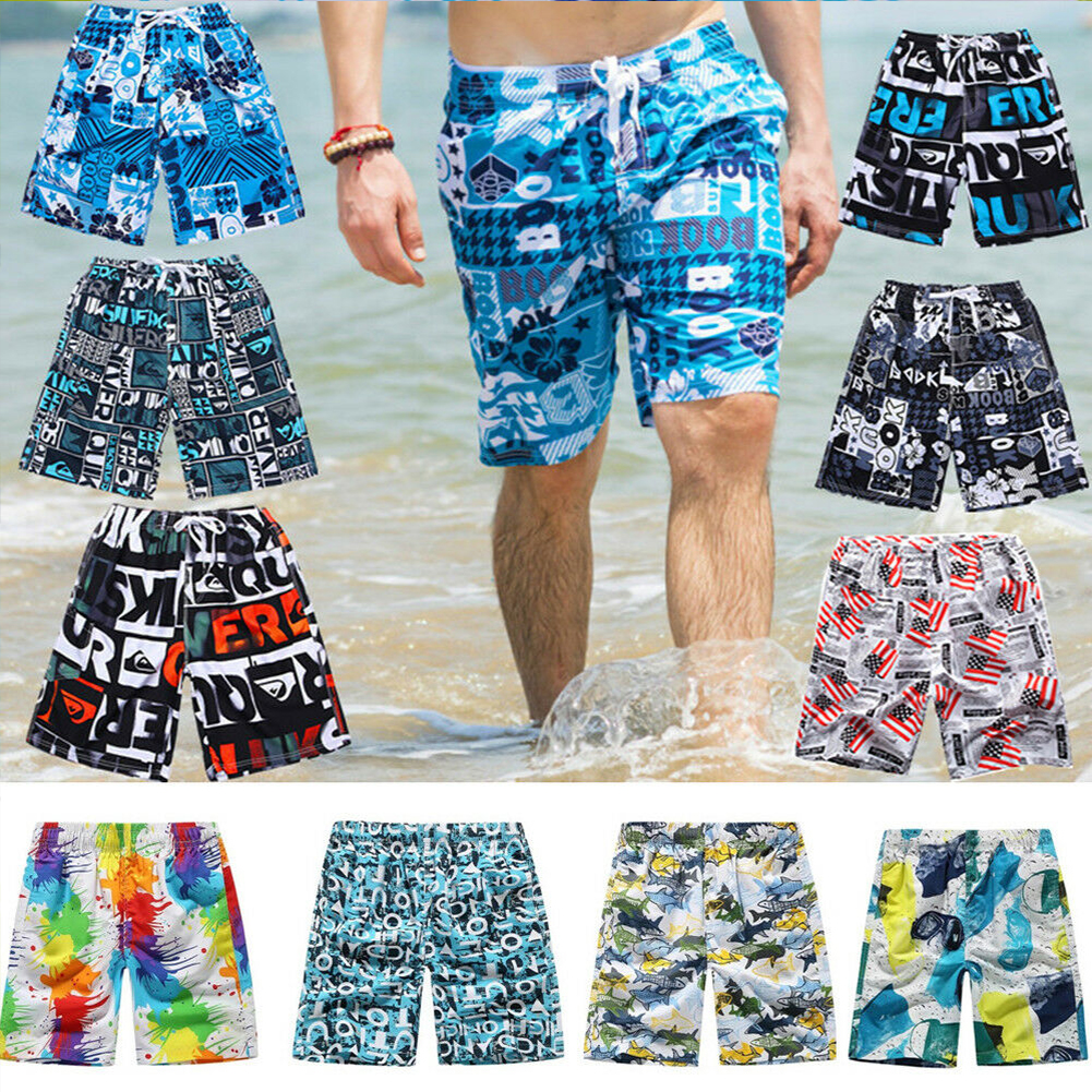 coloing Casual Mens Swim Trunks Quick Dry Printed Beach Shorts Summer Boardshorts