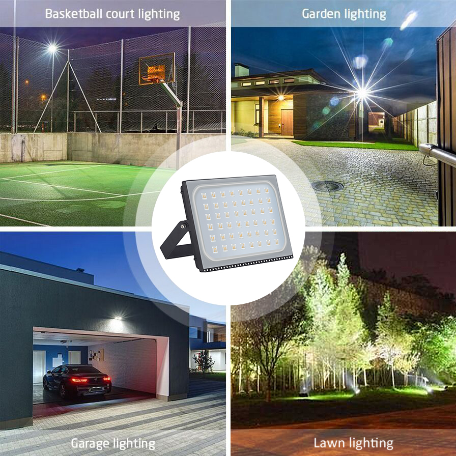 300W Warm LED Floodlight For Outdoor House Lighting Security 200-240V 24000lm UK