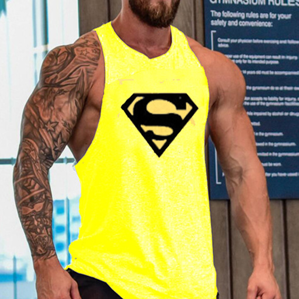 Men-Cool-Gym-Muscle-Bodybuilding-Sleeveless-T-shirt-Tank-Tops-Fitness-Sport-Vest miniature 13