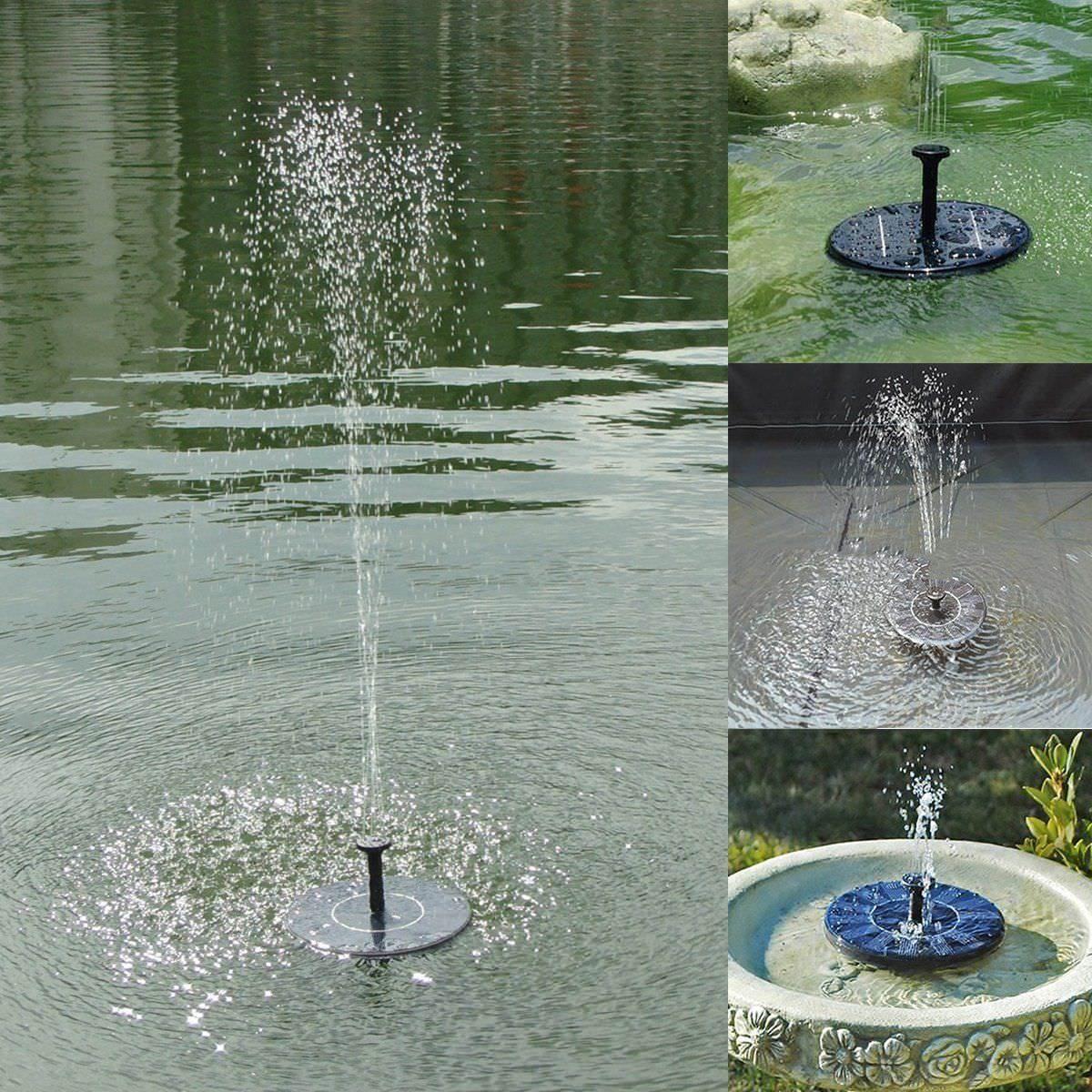 Pompe à eau solaire fontaine panneau solaire diffuseurs Jardin Bassin 13.5x3.8cm