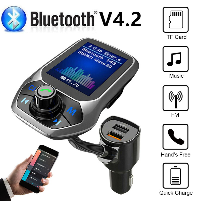Bluetooth Car FM Transmitter Hands free MP3 Player Radio Adapter Kit USB Charger