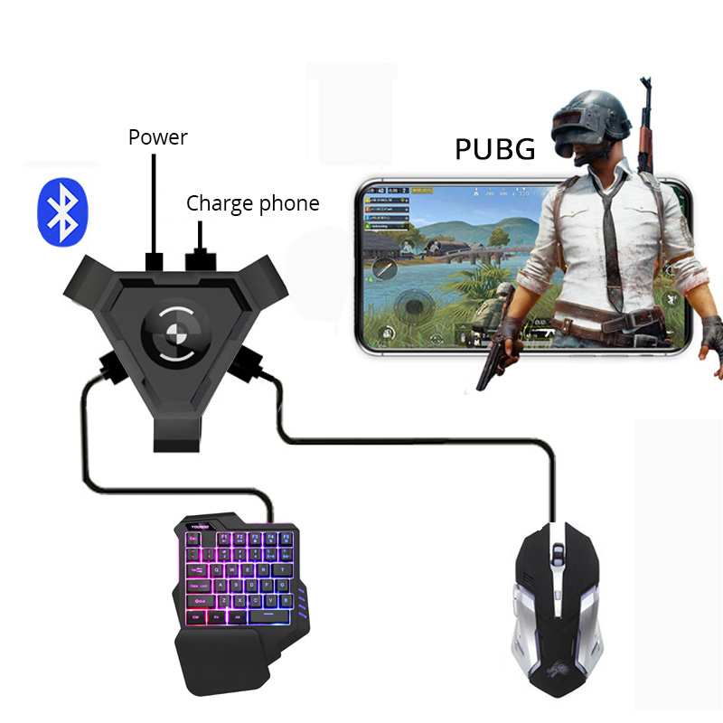 Details about PUBG Mobile Gaming Keyboard Mouse Adapter Converter for  Android IOS iPhone