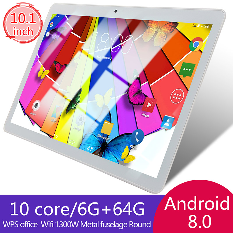 10-Inch-Tablet-Android-8-0-6-64GB-Tablet-PC-with-TF-Card-Slot-and-Dual-Camera miniature 2