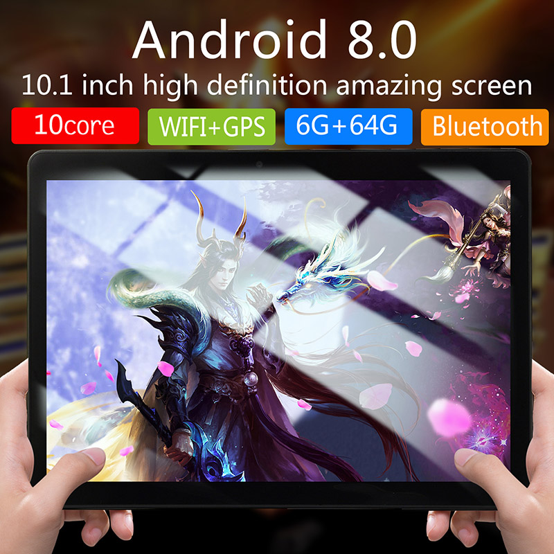 10-Inch-Tablet-Android-8-0-6-64GB-Tablet-PC-with-TF-Card-Slot-and-Dual-Camera miniature 3