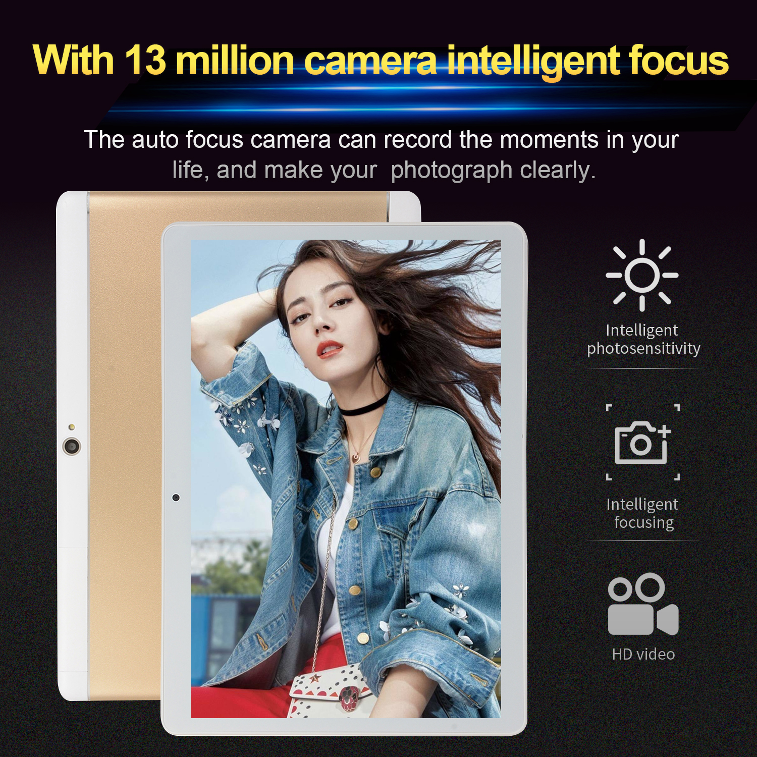 10-Inch-Tablet-Android-8-0-6-64GB-Tablet-PC-with-TF-Card-Slot-and-Dual-Camera miniature 5