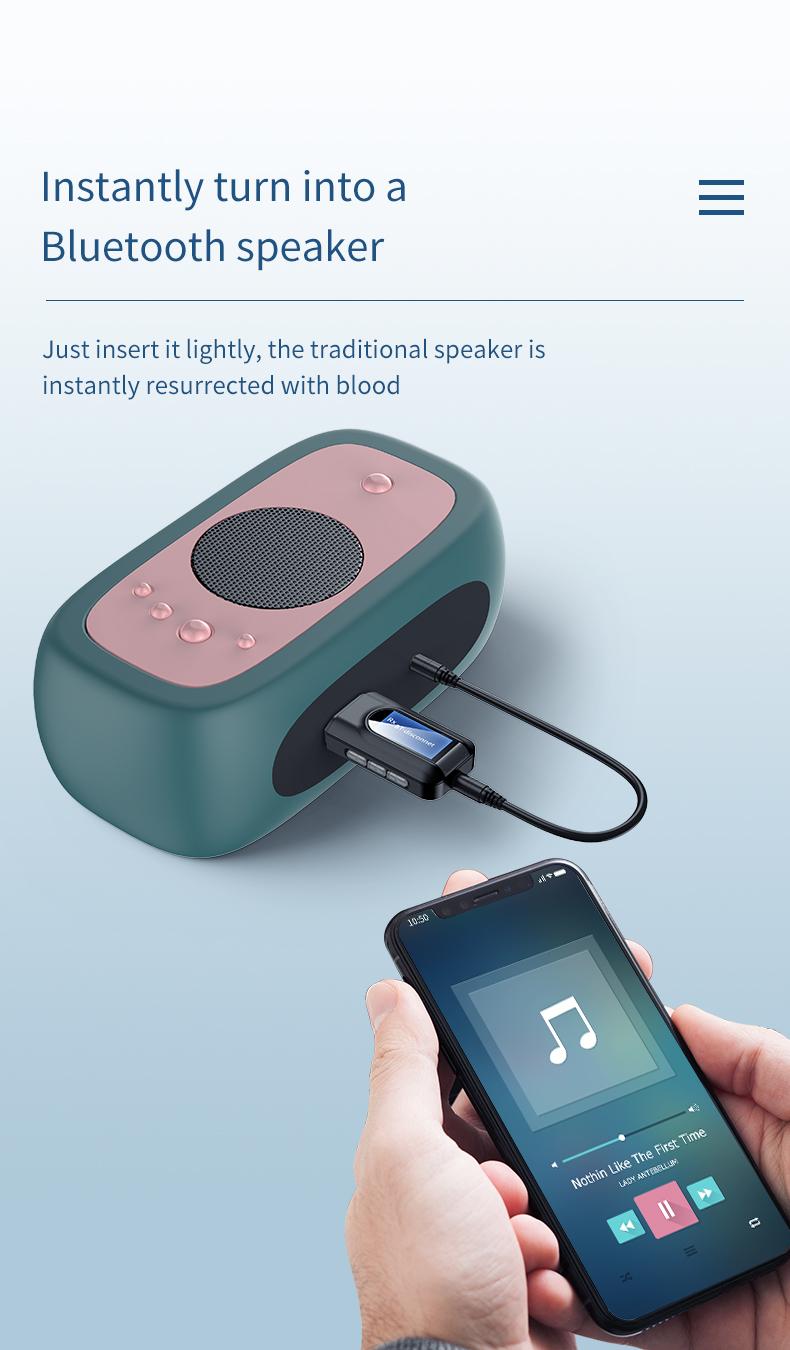 USB Bluetooth V5.0 Audio Transmitter Sender für TV PC Lautsprecher Kopfhörer R