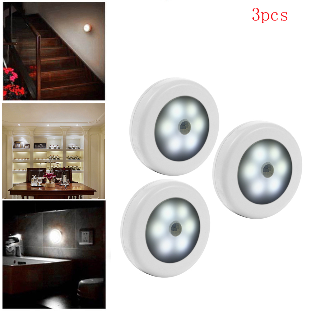 Ceiling Wall Undercabinet Lights At: Under Cabinet Night Light LED Closet Stair Hallway Bedroom