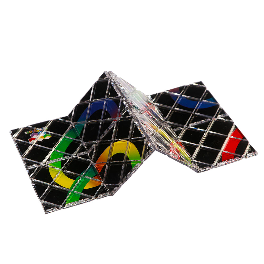 182d3502e461 Details about 8 Panel 3 Ring Rubik Master Magic Folding Puzzle Cube Twisty  Teas Toy Ghost #