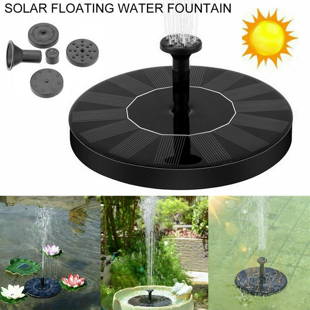 Outdoor Solar Powered Floating Water Fountain Pump Bird Bath Garden Pond Pool I