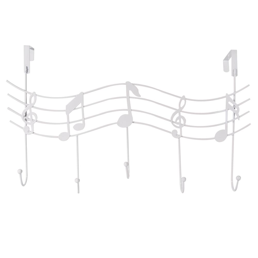 Door-Hanger-Over-Clothes-Coat-Black-Music-Metal-Coat-Iron-Rack-Hooks-Holder-UK thumbnail 3