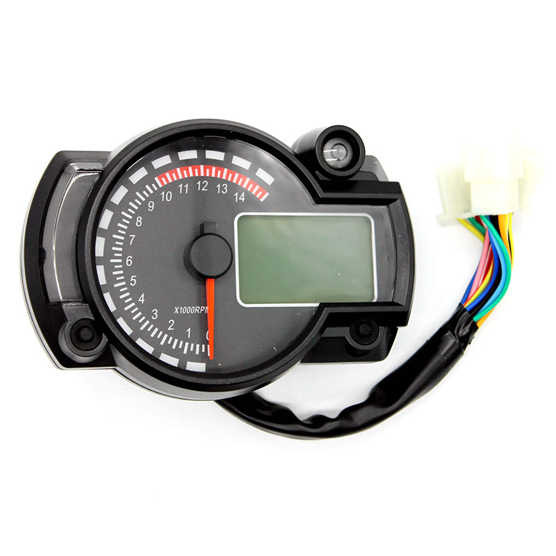 Motorcycle Digital Speedometer Lcd Gauge Speedometer 7 Colors