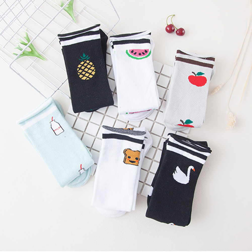 2ac27e715 One Pair of Girls Pure Cotton Over Calf Knee High Stockings Animal Fruits  Socks. High Quality - Made of Pure Cotton. Soft and breathable material  guarantees ...