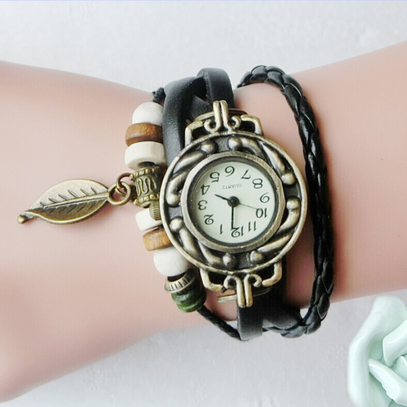 e356bbf31a6 Material - Made from high quality and soft leather watch strap + metal  case. Fashion Retro Style - unique wrap around leather design