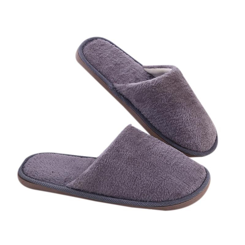 1paar hausschuhe damen herren baumwolle pantoffel herbst winter flops slipper ebay. Black Bedroom Furniture Sets. Home Design Ideas