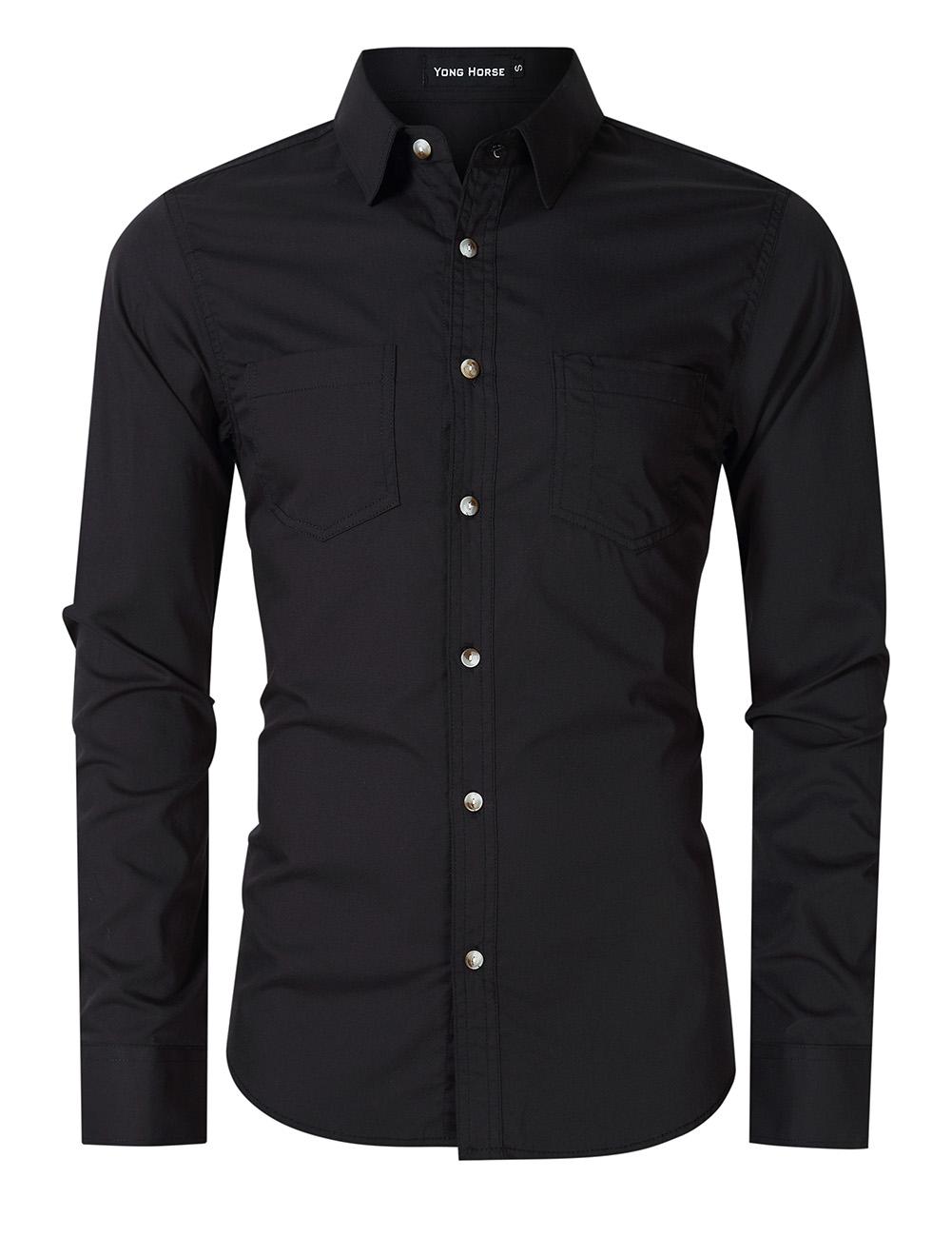 YONG-SHOP Ahegao Mens Regular-Fit Cotton Polo Shirt